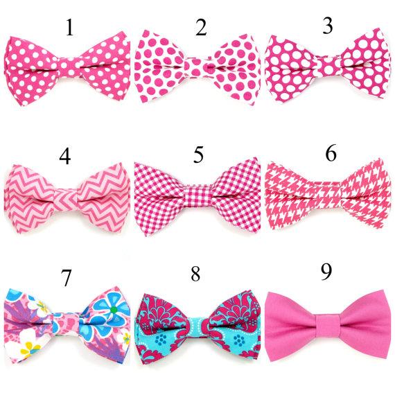 Baby Bow Tie Boys Men Wedding Ties Groomsmen Ring Bearer Pink Fuchsia