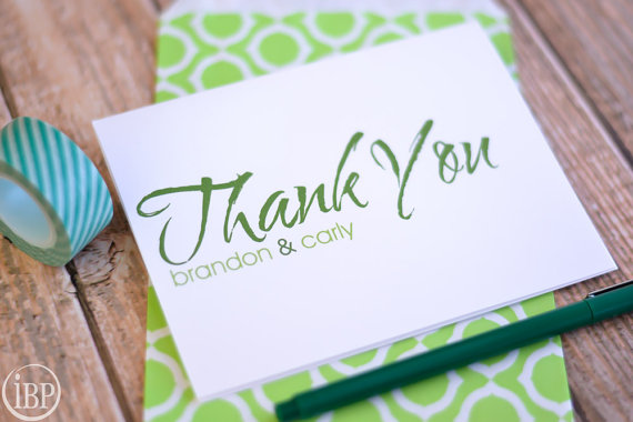 Brush Stroke Thank You Cards Wedding S Note Card Personalized Notes