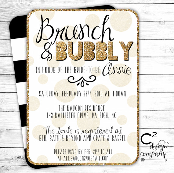 fd485ceb32be Brand-new Brunch   Bubbly Bridal Shower Invitation  2249940 - Weddbook YL19