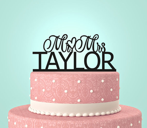 personalized last name wedding cake toppers personalized custom mr amp mrs wedding cake topper with your 18266