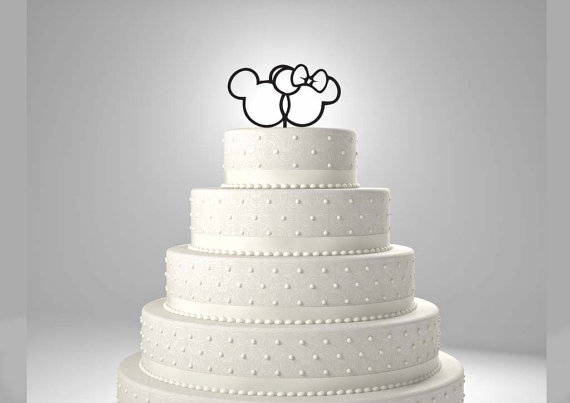 mickey and minnie silhouette wedding cake topper cake mickey and minnie wedding cake topper 2251112 17345