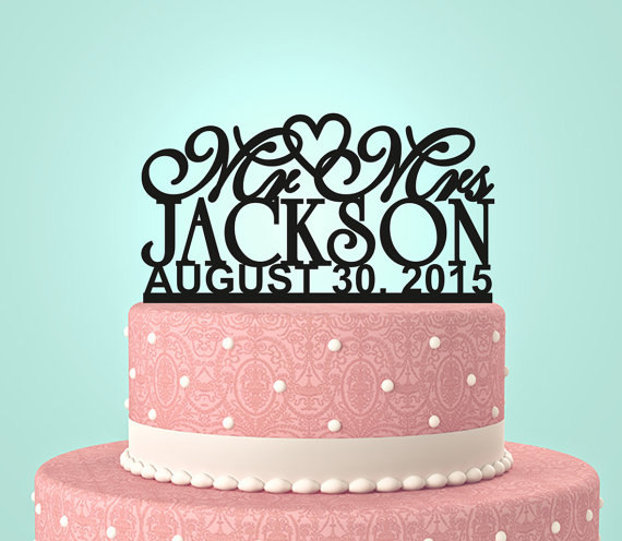 wedding cake topper name and date personalized custom mr amp mrs wedding cake topper with your 26363