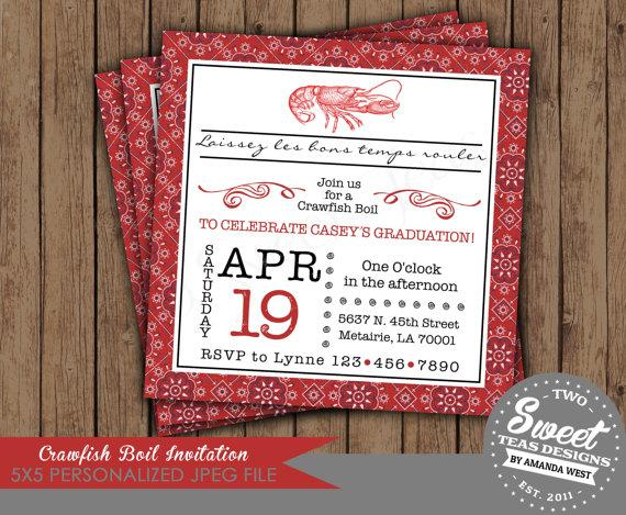 This is a picture of Crawfish Boil Invitations Free Printable for crawfish invitation louisiana