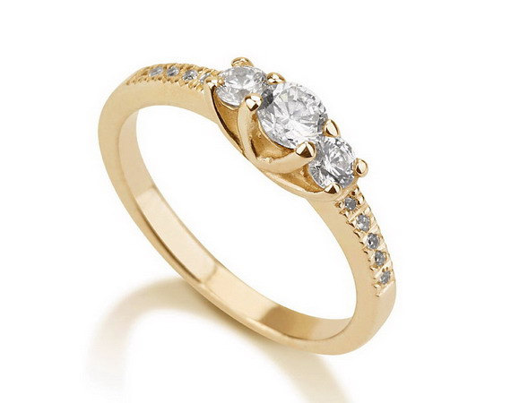 Engagement Promise Ring Gold Ring Couples Ring Wedding Bands