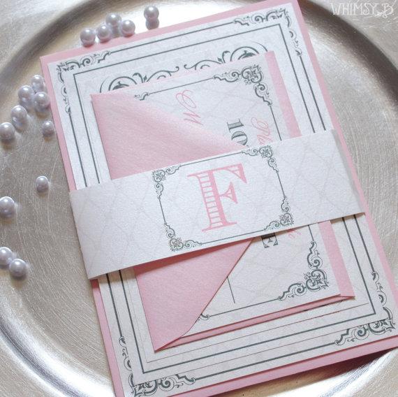 Blush Wedding Invitations And Silver Pink Invitation Grey Gray