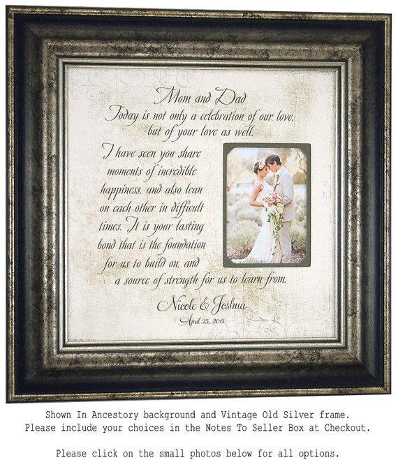 Personalized Wedding Frame Bridal Shower Gift Pas