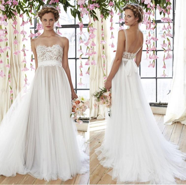 Arrival Beautiful Lace Liques Wedding Gowns Straps Y Dresses Backless Bridal Gown Sweep Train Online With 104 82 Piece On Hjklp88 S