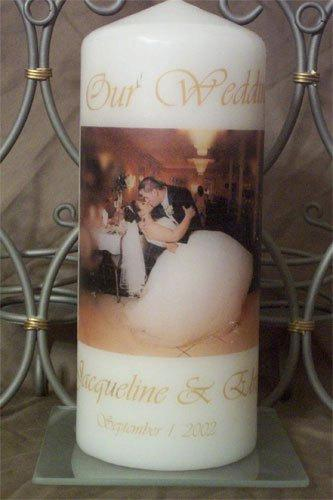 Wedding Photo Candle Personalized Custom Unity Memorial Unique Candles