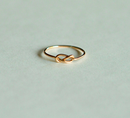 Infinity Ring 14kt Gold Rings Knot Handcrafted Jewelry Etsy Wedding Band Engagement Solid