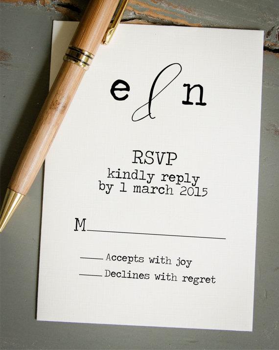 Wedding Rsvp Card Diy Invitation Stamp Custom Rubber Personalized Self Inking Typewriter