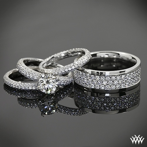Pave Engagement Rings And Wedding Bands D In Diamonds
