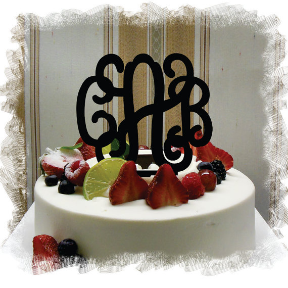 pretty wedding cake toppers monogram wedding cake topper 5 quot or 6 quot beautiful vine 18741
