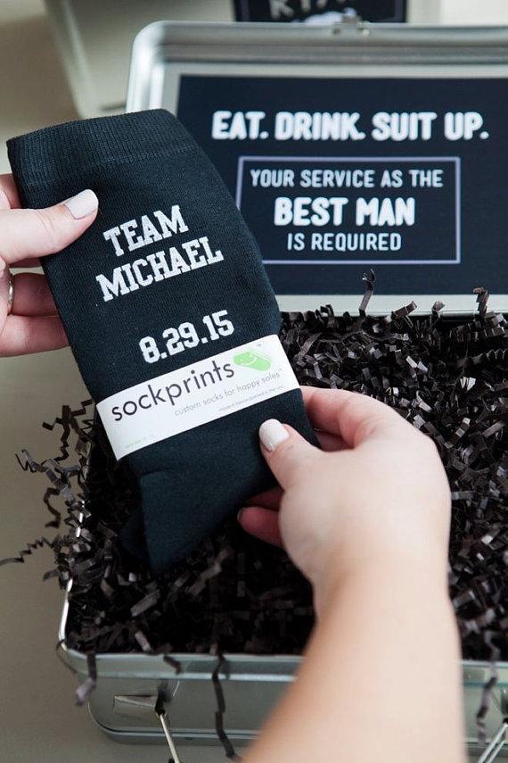 Mens Wedding Party Socks Groom Groomsmen Funny Gift Ideas Personalized Attire Accessory Black Dress