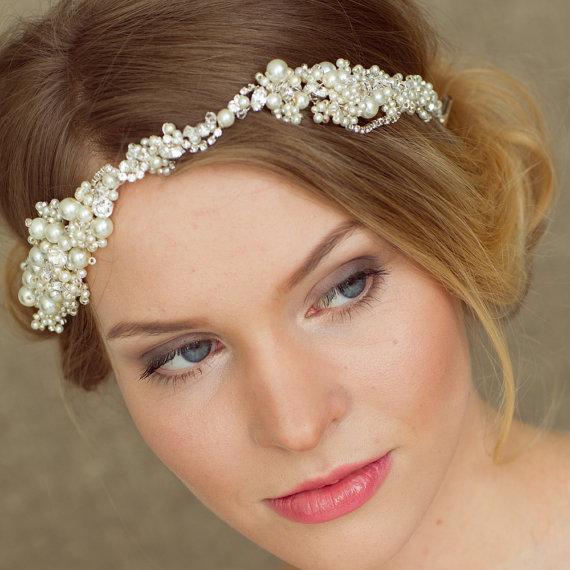 Halo Pearl Hair Vine Headband