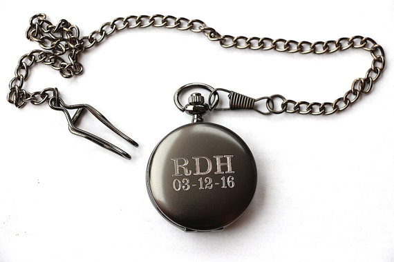 Groomsmen Gift Pocket Watch Engraved Mens Monogrammed Personalized Groomsman For Groom Wedding Party Gifts