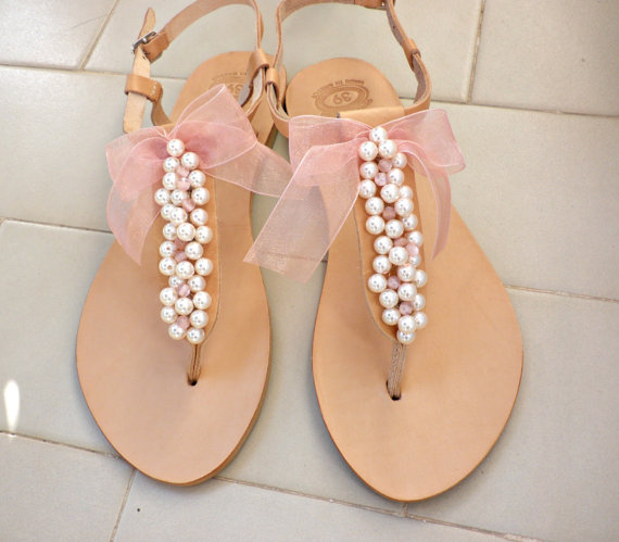 Summer Wedding Sandals Pearl Bridesmaids