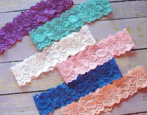 50 Lace Colors Garter Belt Throw Plain Wedding Custom Something Blue Diy Sb