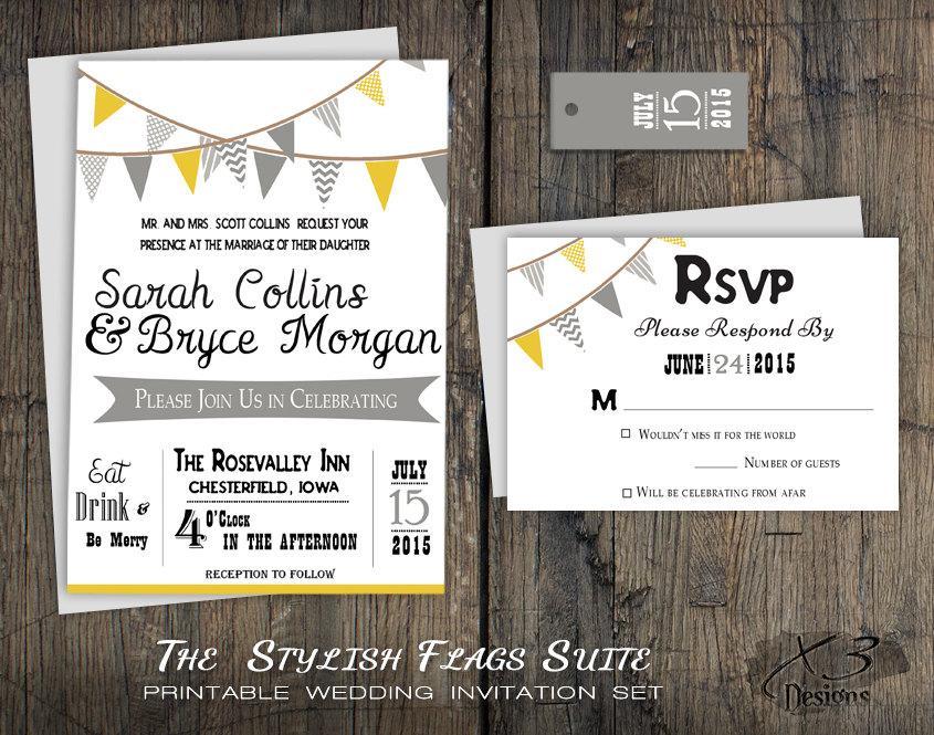 Rustic Barn Wedding Invitation Set