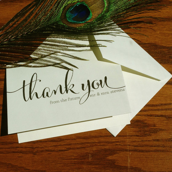 Thank You From The Future Mr And Mrs S Shower Cards Wedding Notes Handmade Stationery