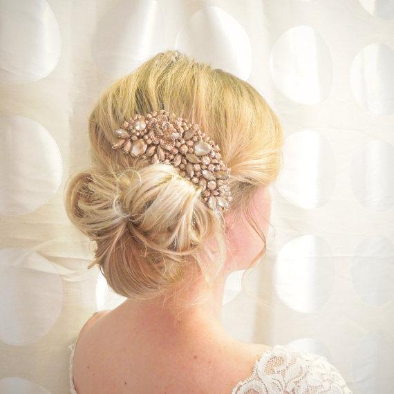 20 Off Sale Rose Gold Hair Comb Bridal Hair Comb Wedding Hair Clip Wedding Hair Accessory Rose Gold Wedding Headpiece Bronze Comb 2322662 Weddbook