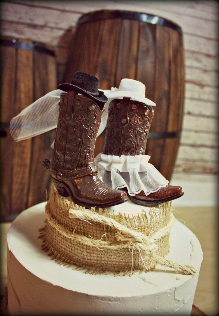 rustic wedding cake toppers cowboy boots wedding cake topper western themed wedding 7207