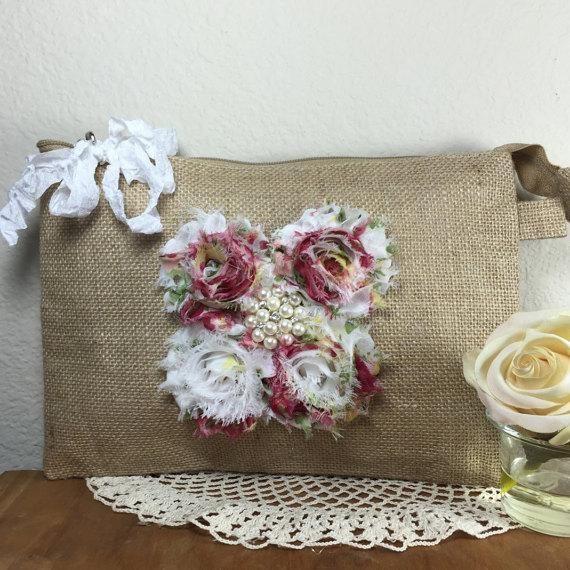 Bridesmaid Gifts Wedding Party Rustic Clutch Bags Burlap Bridal Gift Ideas For Her Office S