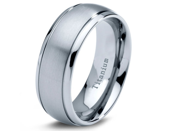 titanium wedding band men rings mens - Titanium Wedding Rings For Men