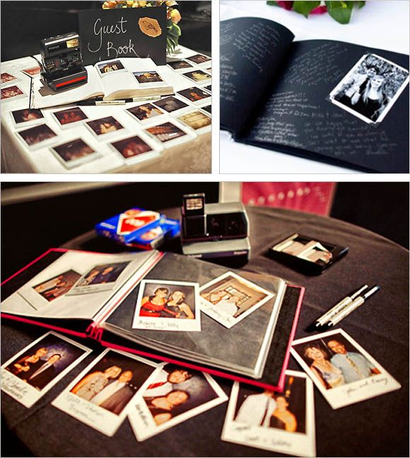 20 Creative Guest Book Ideas For Wedding Reception Polaroid Guestbook With Personal Messages