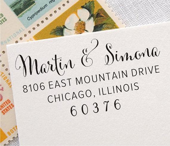 Return Address Stamp Custom Personalized Labels 011