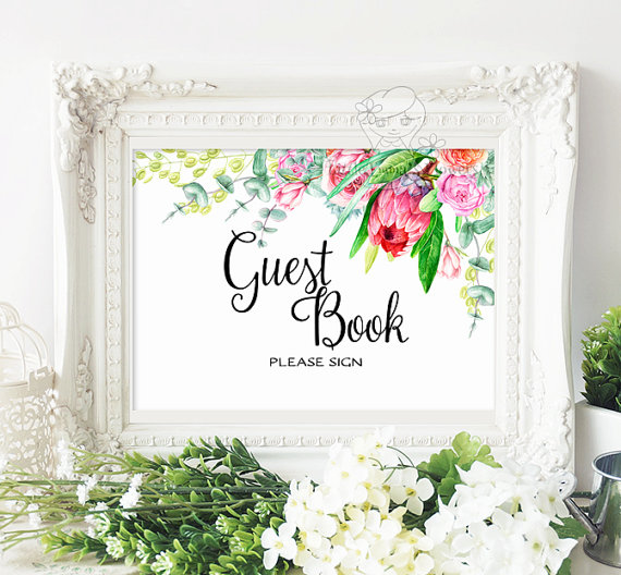 Printable Wedding Reception Seating Signage Guest Book Cards And Gifts Reserved Sign Flower Design Calligraphy Template Garden Suite Set 8