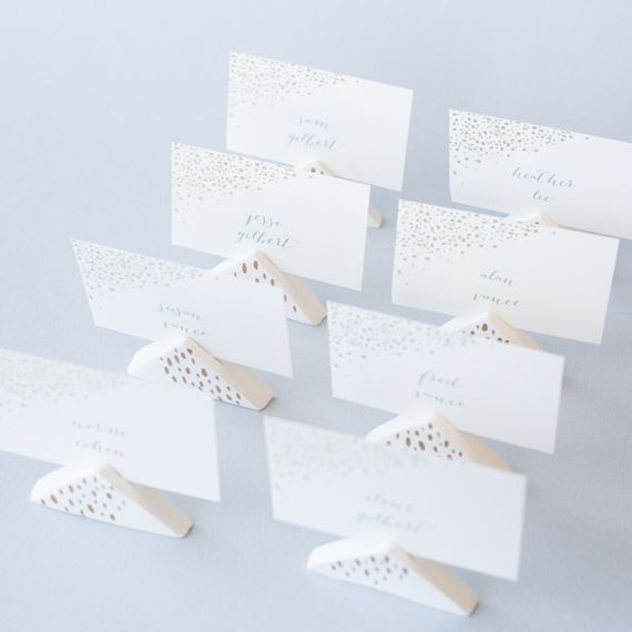 Diy Wedding Air Dry Clay Place Card Holders