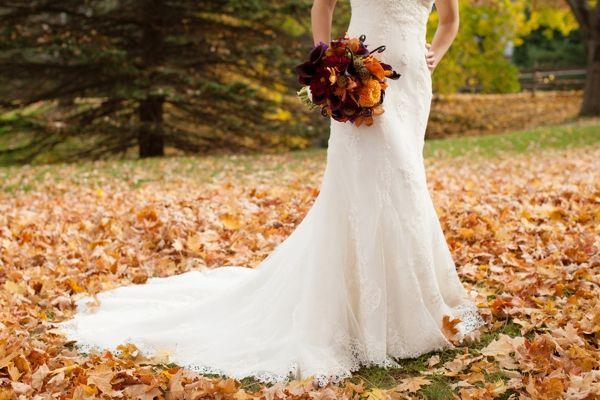 Purple And Orange New England Fall Wedding Ideas