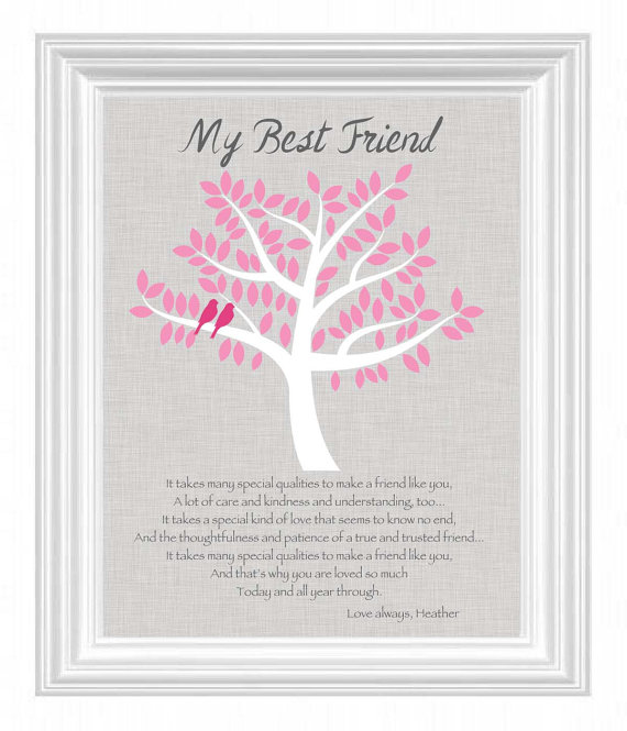 Best Friend Gift Personalized For A Special Bff Birthday Bridesmaid Or Maid Of Honor Wedding Day Other Colors
