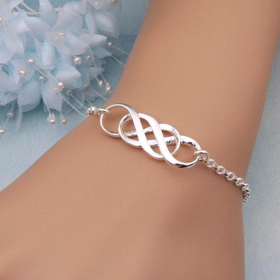 Silver Double Infinity Bracelet