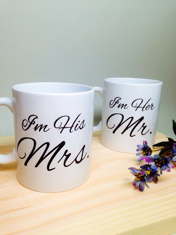 Unique Wedding Gift Idea Bridal Shower Mr And Mrs Coffee Mug Anniversary