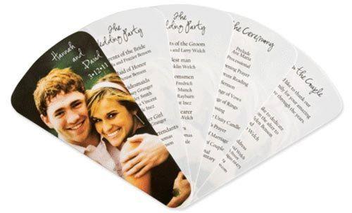 Wedding Program Fan With Custom Photo Cover