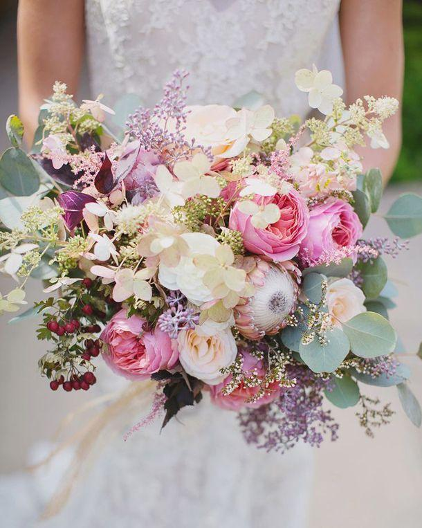 20 Mixed Pastel Wedding Bouquets