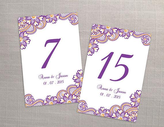 Number Names Worksheets free printable table number templates : DIY Printable Wedding Table Number Template #2366758 - Weddbook
