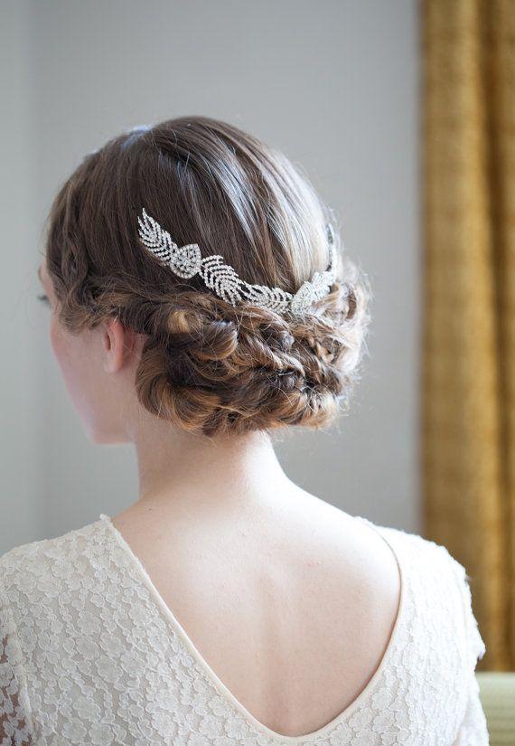 Grecian Bridal Headpiece Art Deco Wedding Hair Accessory Crystal Vine Vintage Agnes Hart Uk