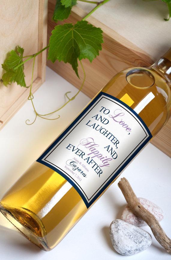 Custom Wine Bottle Labels Personalized Wedding Favors Waterproof Printed Stickers Wb 1025