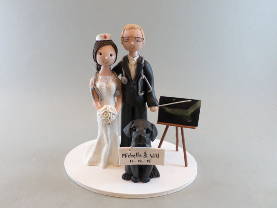 nurse wedding cake toppers doctor amp custom handmade wedding cake topper 17951