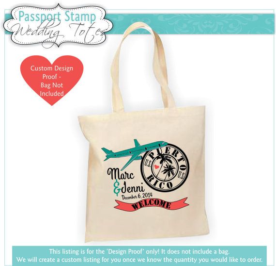 Destination Wedding Bag Welcome Favor Gift Customized Personalized
