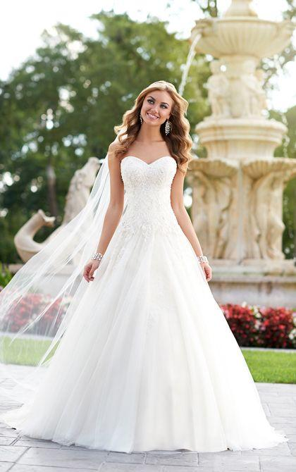 Vintage A Line Bridal Gown Wedding Dress By Stella York Style 6026