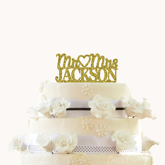 personalized last name wedding cake toppers glitter wedding cake topper personalized cake topper 18266