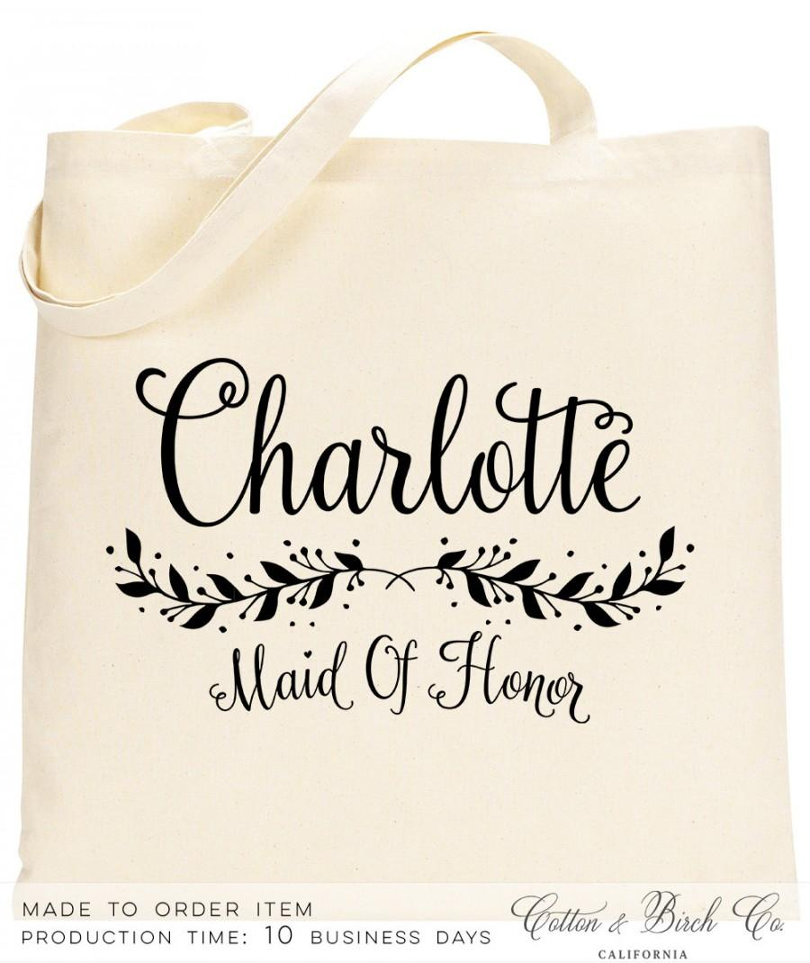 Personalized Bridesmaid Tote Wedding Bag Bridal Party Gifts Pl01