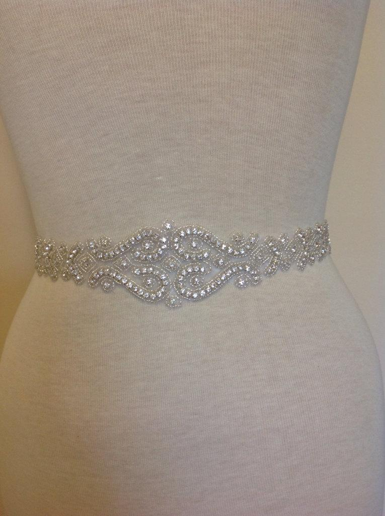 All Around Beading Bridal Belt Wedding Sash Crystal Dress Jeweled Rhinestone