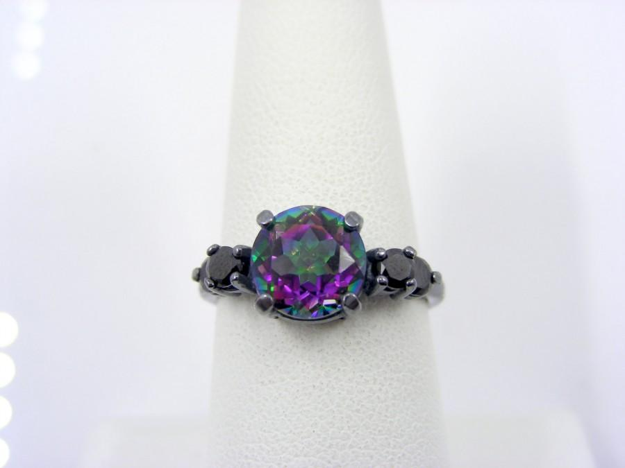 3 Day Mystic Fire Topaz Engagement Ring