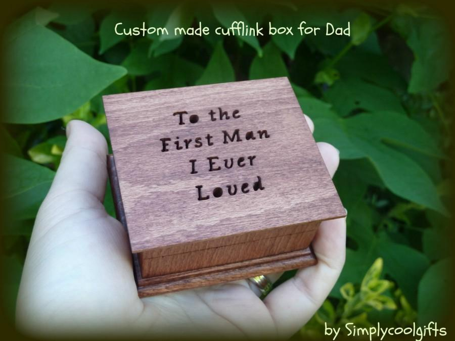 Cufflink Box Jewelry Wedding Ring Father Of Gifts