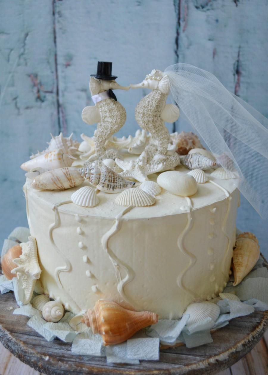 destination wedding cake toppers beach theme seahorse wedding cake topper and groom resin white 13502