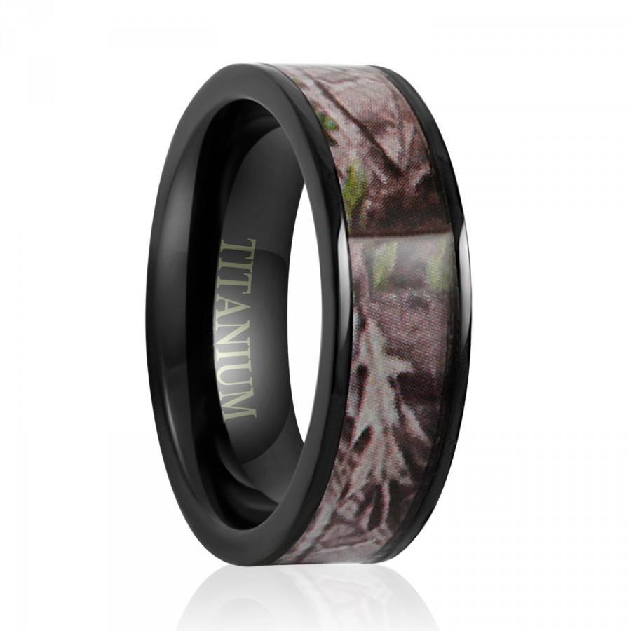 Anium Wedding Band Ring Engagement 7mm Camouflage Camo Black Men Women